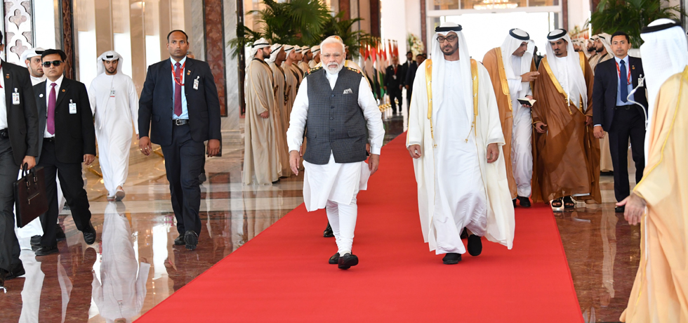 Prime Minister departs form Abu Dhabi after successful completion of his visit to UAE