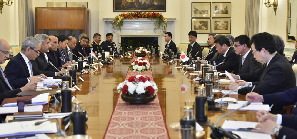 India-Japan 2 plus 2 Ministerial Dialogue takes place at Hyderabad House, New Delhi