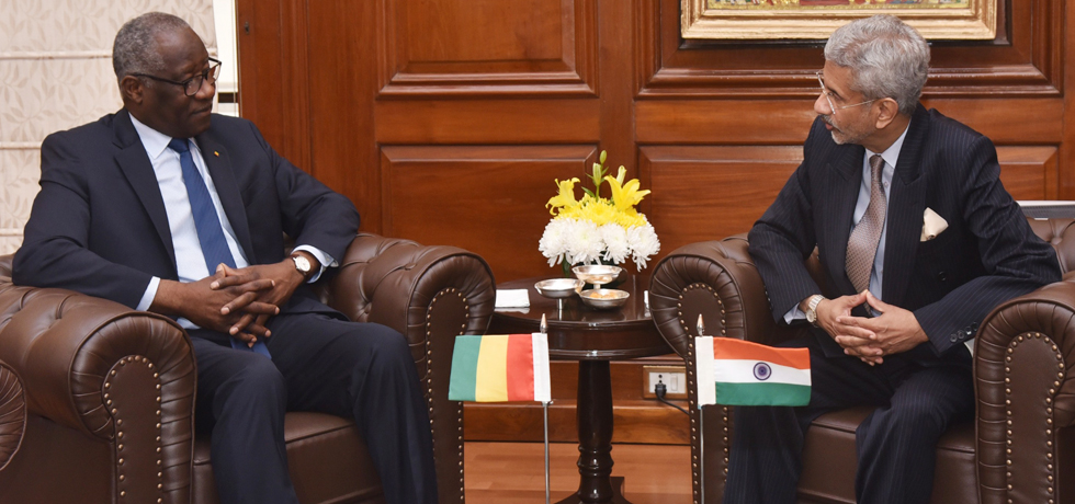 External Affairs Minister meets Mamadi Toure, Foreign Minister of the Republic of Guinea in New Delhi