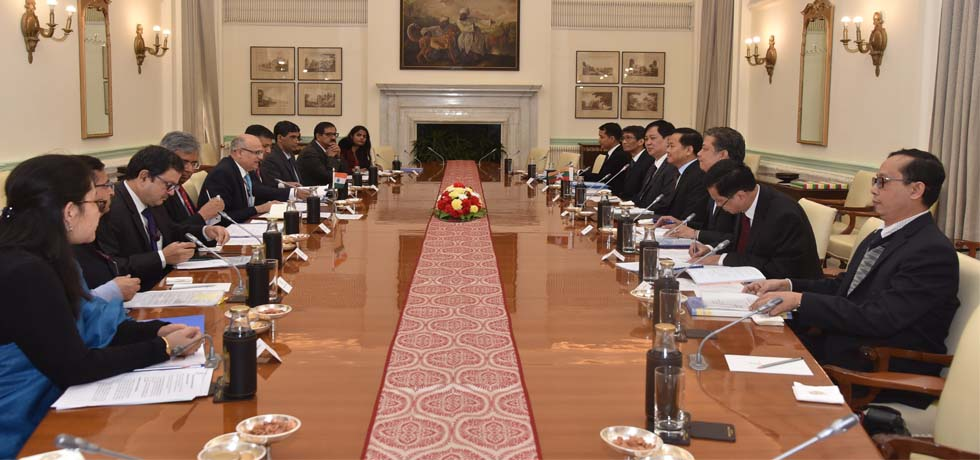 India-Myanmar Foreign Office Consultations takes place at Hyderabad House, New Delhi