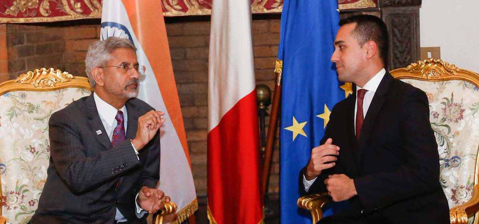 External Affairs Minister meets Luigi Di Maio, Foreign Minister of Italy in Rome