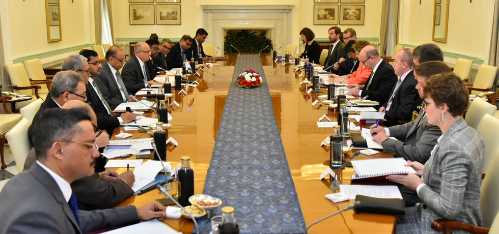 India-Australia 2 Plus 2 Foreign and Defence Secretaries' Meeting takes place at Hyderabad House, New Delhi