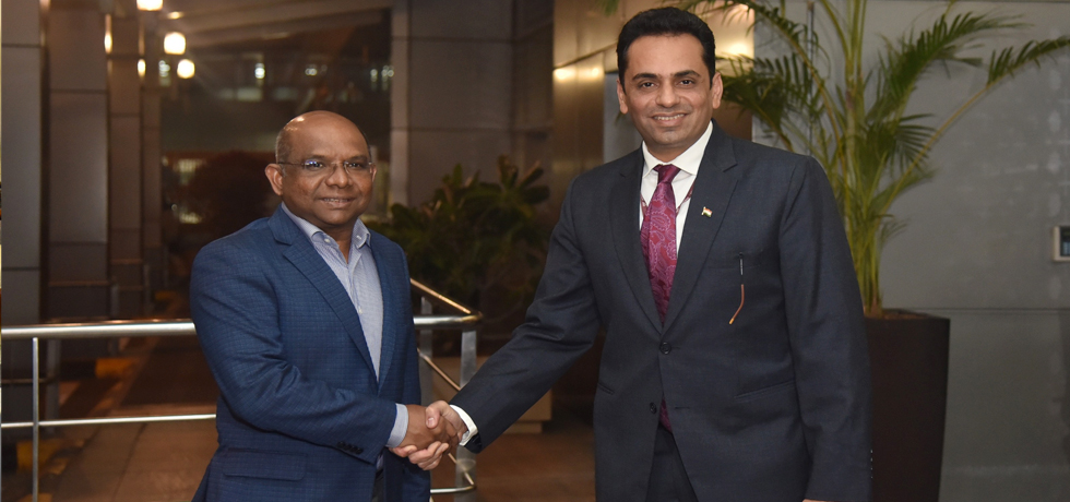 Abdulla Shahid, Minister of Foreign Affairs of the Republic of Maldives arrives in New Delhi