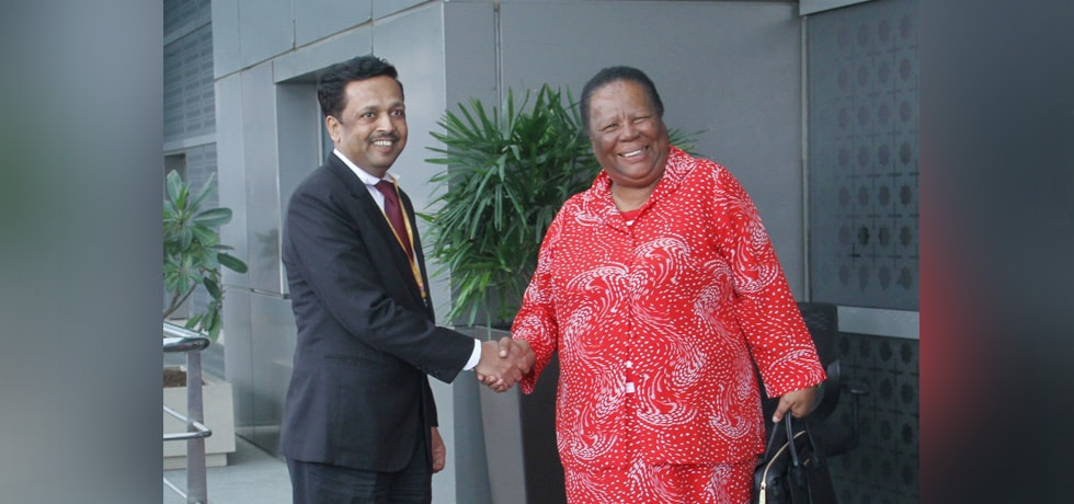 GNM Pandor, Minister of International Relations and Cooperation of South Africa arrives in New Delhi