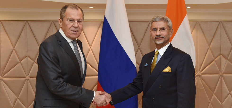 External Affairs Minister meets Sergey Lavrov, Minister of Foreign Affairs of Russia during Raisina Dialogue 2020