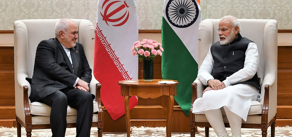 Prime Minister meets Dr. Mohammad Javad Zarif, Minister of Foreign Affairs of Iran during Raisina Dialogue 2020