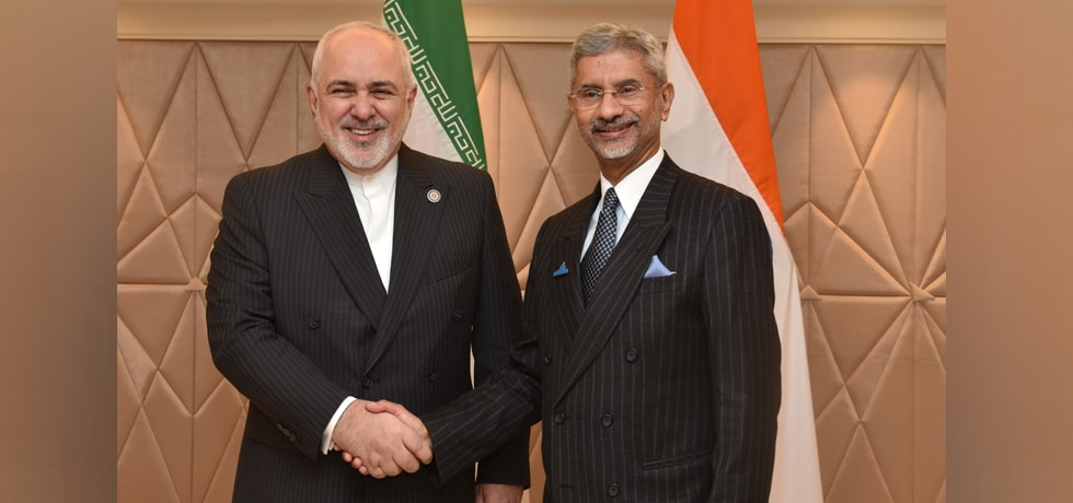 External Affairs Minister meets Dr. Mohammad Javad Zarif, Minister of Foreign Affairs of Iran during Raisina Dialogue 2020
