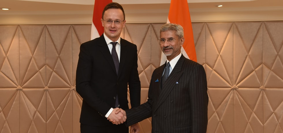 External Affairs Minister meets Peter Szijjarto, Minister of Foreign Affairs of Hungary during Raisina Dialogue 2020