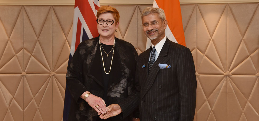 External Affairs Minister meets Marise Payne, Foreign Minister of Australia during Raisina Dialogue 2020