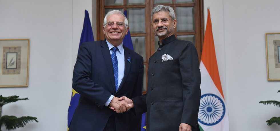 External Affairs Minister meets Josep Borrell Fontelles, High Representative for Foreign Affairs and Security Policy and Vice President of the European Commission during Raisina Dialogue 2020