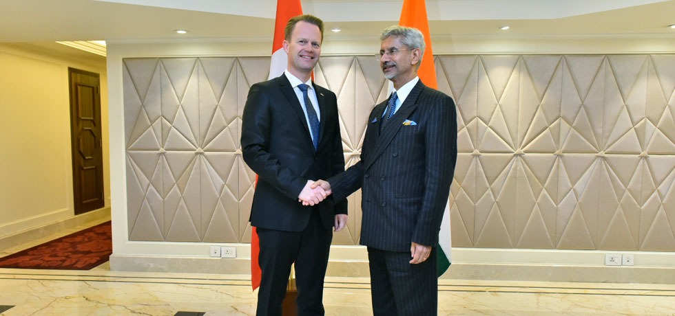 External Affairs Minister meets Jeppe S Kofod, Minister of Foreign Affairs of Denmark during Raisina Dialogue 2020