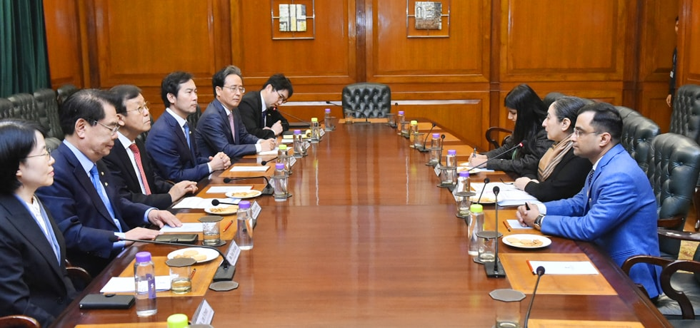 Secretary (East) meets with a multi-party Parliamentary delegation from Republic of Korea