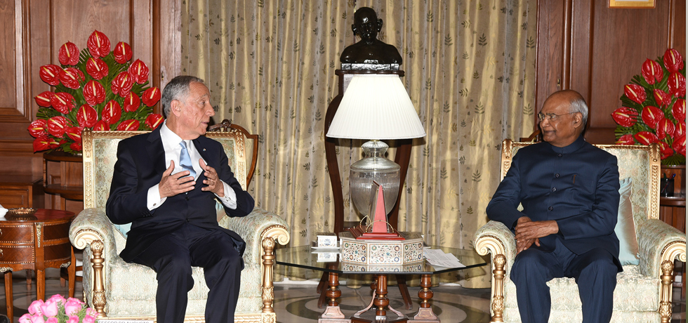 President meets Marcelo Rebelo De Sousa, President of Portugal in New Delhi