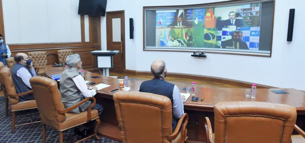 External Affairs Minister participates in the Virtual BRICS Foreign Ministers' Meeting