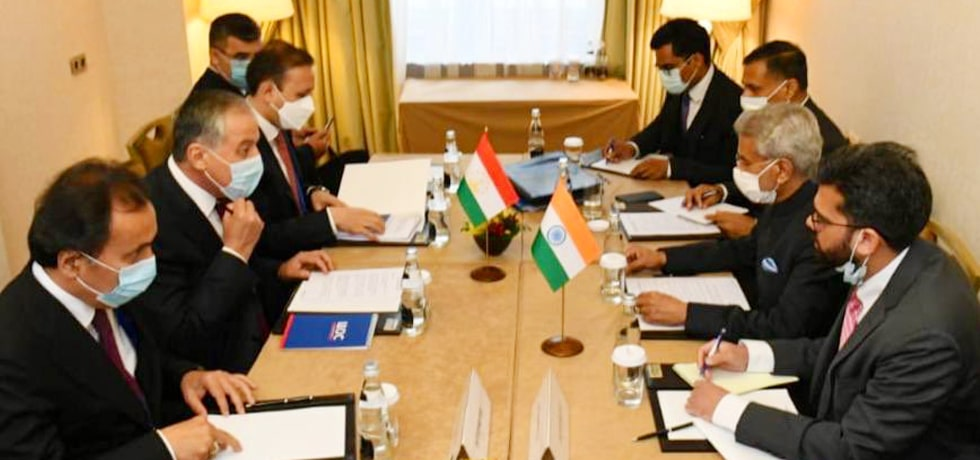 External Affairs Minister meets Sirojiddin Muhriddin, Foreign Minister of Tajikistan in Moscow