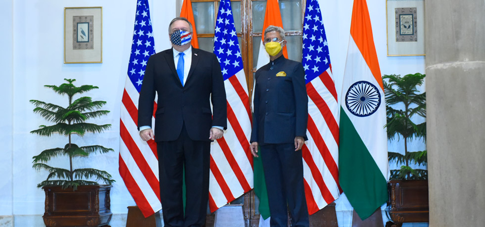 External Affairs Minister meets Michael R. Pompeo, U.S. Secretary of State at Hyderabad House, New Delhi