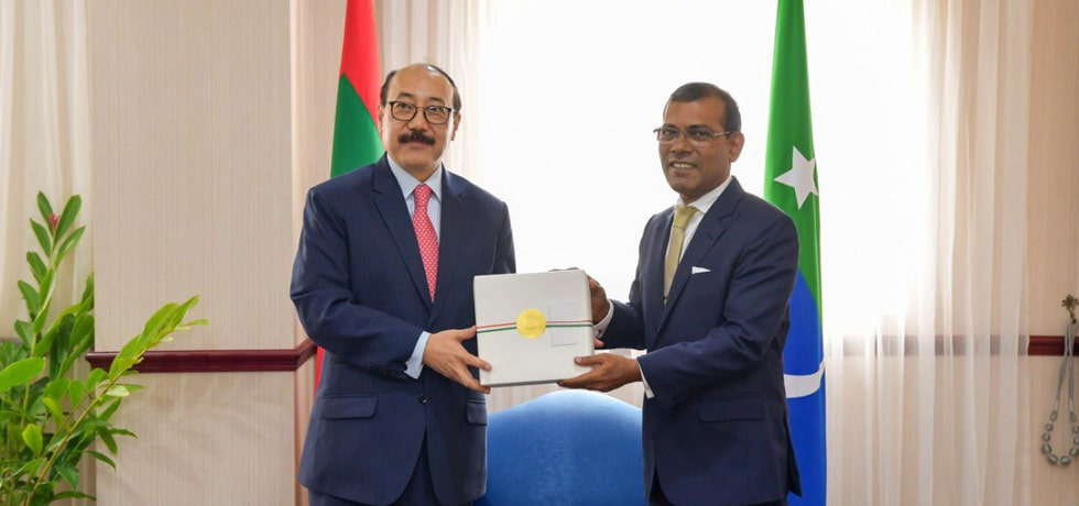 Foreign Secretary meets Mohamed Nasheed, Speaker of the People's Majlis in Malé