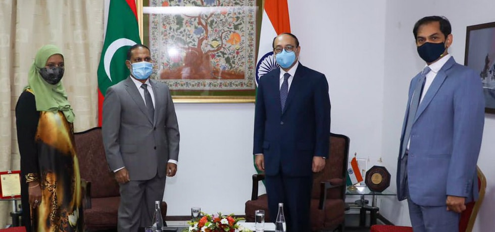 Foreign Secretary meets Sheikh Imran Abdulla, Minister of Home Affairs of Maldives in Malé
