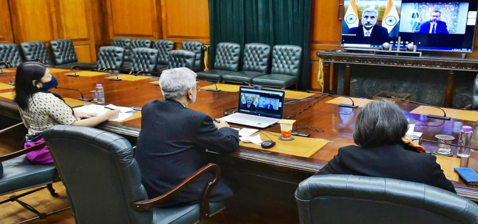 External Affairs Minister at the virtual meeting with Ernesto Araujo, Foreign Minister of Brazil
