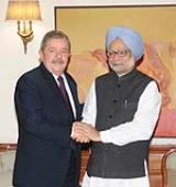 Prime Minister Dr. Manmohan Singh with former President of Federative Republic of Brazil, Mr. Luiz Inacio Lula da Silva in New Delhi