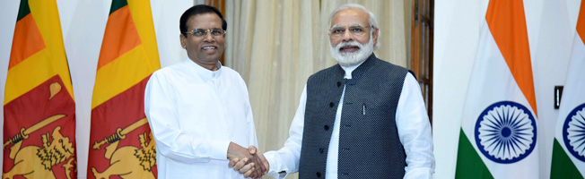 Working visit of President of Sri Lanka to India (May 13-14, 2016)