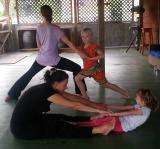 The first International Day of Yoga being celebrated in Dominica
