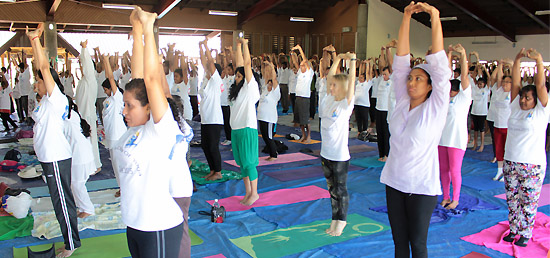 Fiji marks the first International Day of Yoga celebrations