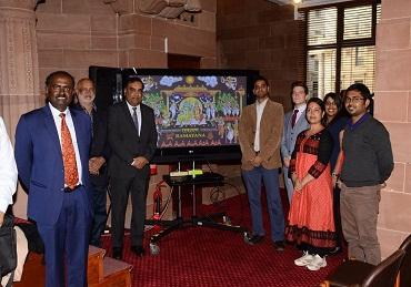 Launch of Ramayan commemorative stamp at High...
