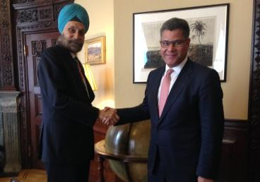 High Commissioner met Alok Sharma, Parliament...