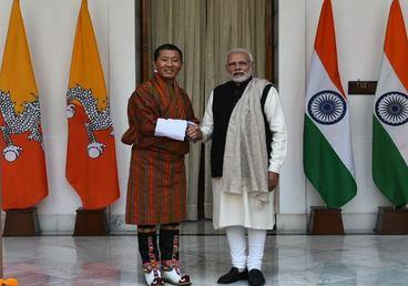 Natural friends and partners. Shri. Narendra Modi, PM welcomed Lyonchhen (Dr.) Lotay Tshering, PM of Bhutan ahead of delegation level talks to discuss the entire spectrum of bilateral relations and explore new opportunities to further strengthen them.