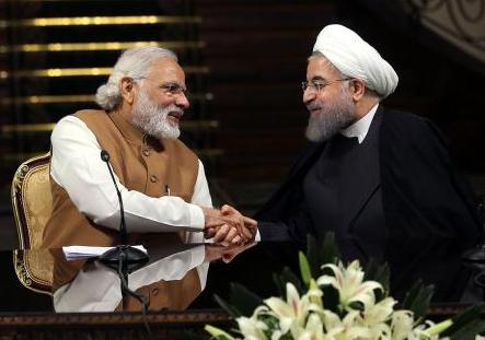Prime Minister Narendra Modi meets President Hassan Rouhani during his visit to Iran on May 23,2016