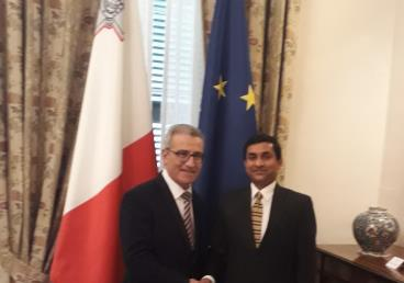 High Commissioner meets Foreign Minister of Malta