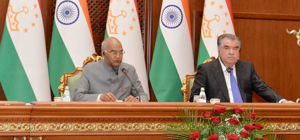 President delivers Press Statement during his State Visit to Tajikistan