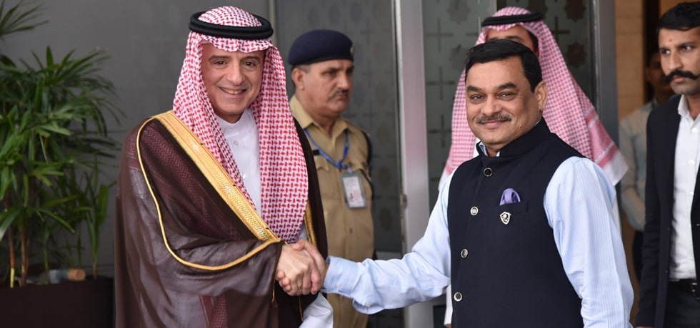 Adel al-Jubeir, Minister of State for Foreign Affairs of the Kingdom of Saudi Arabia arrives in New Delhi