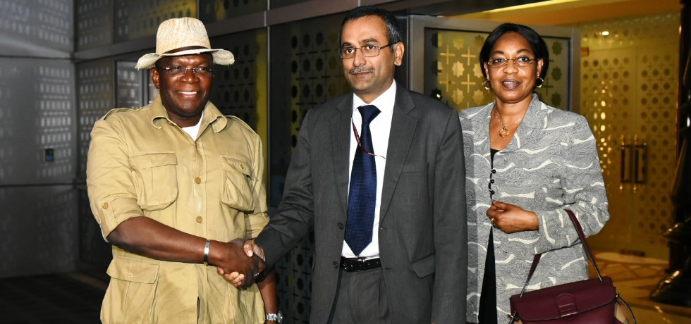 Ibrahima Kassory Fofana, Prime Minister of Republic of Guinea arrives in New Delhi