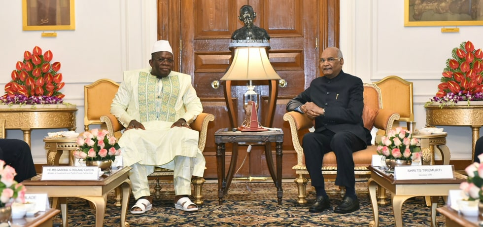 President meets Ibrahima Kassory Fofana, Prime Minister of Republic of Guinea at Rashtrapati Bhavan, New Delhi