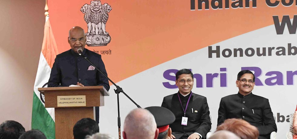 President addresses Indian Community during his State Visit to Croatia