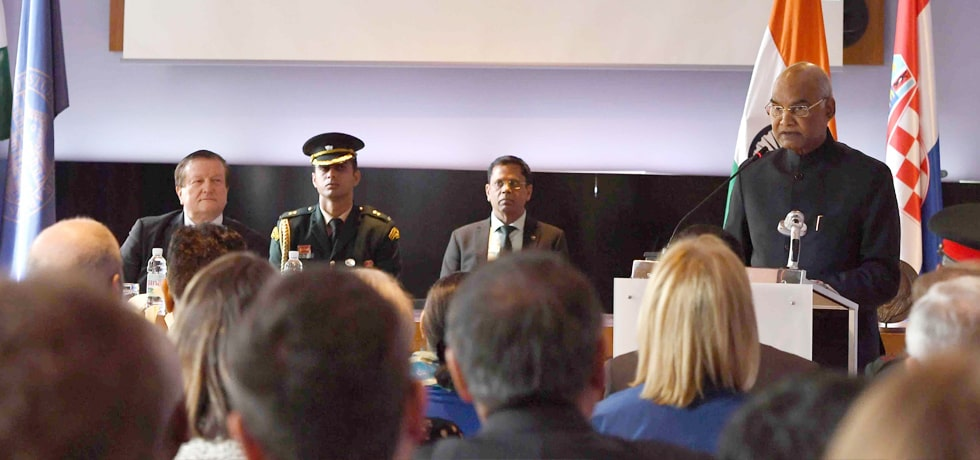 President delivers his address at University of Zagreb in Croatia