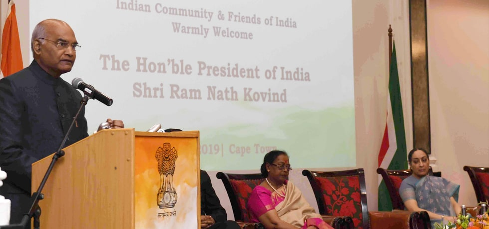 President addresses Indian Community in Cape Town