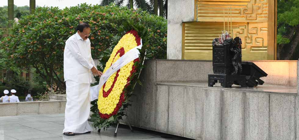 Vice President lays wreath at the Monument of National Heroes and Martyrs in Hanoi, Vietnam