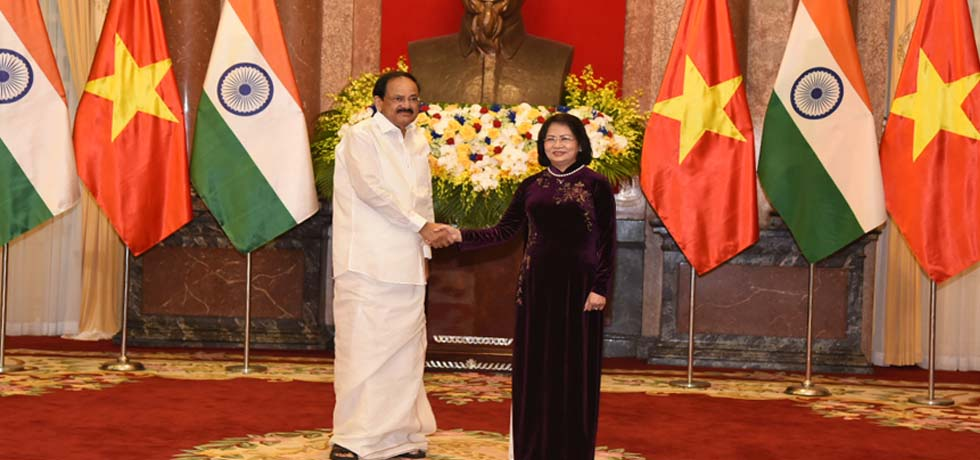 Vice President meets Dang Thi Ngoc Thinh, Vice President of Vietnam at Presidential Palace in Hanoi, Vietnam