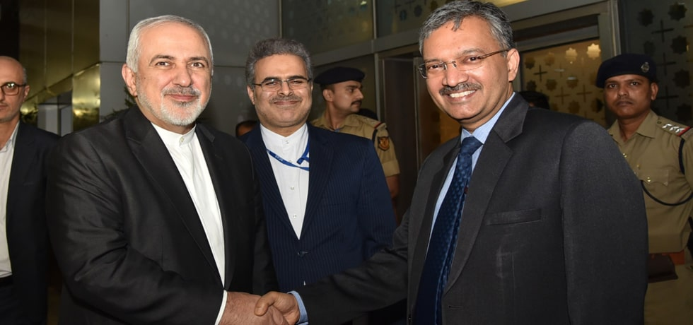 Dr Mohammad Javad Zarif, Minister of Foreign Affairs of Iran arrives in New Delhi