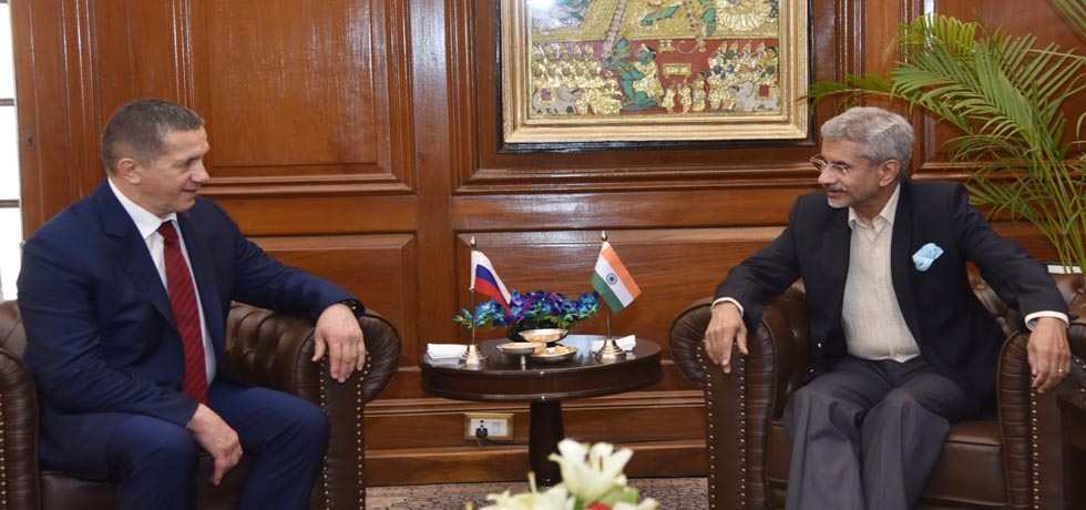External Affairs Minister meets Yury Trutnev, Deputy Prime Minister of Russia in New Delhi
