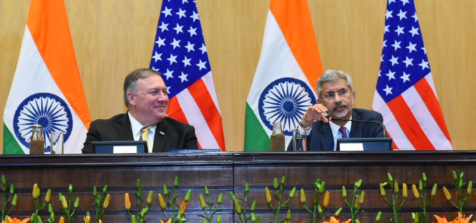 External Affairs Minister delivers his remarks during Press Interaction with Secretary of State of the United States of America in New Delhi