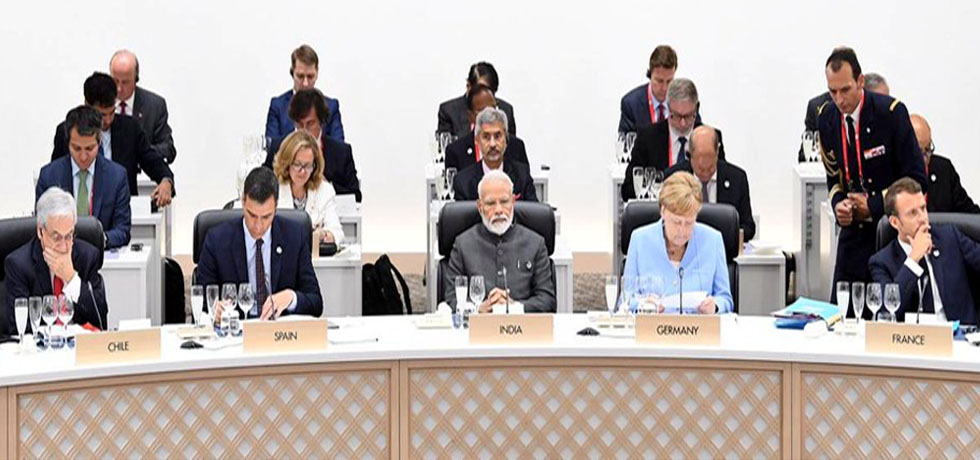 Prime Minister makes an intervention on Digital Economy and Artificial Intelligence at Session II of G20 Summit 2019 in Osaka, Japan