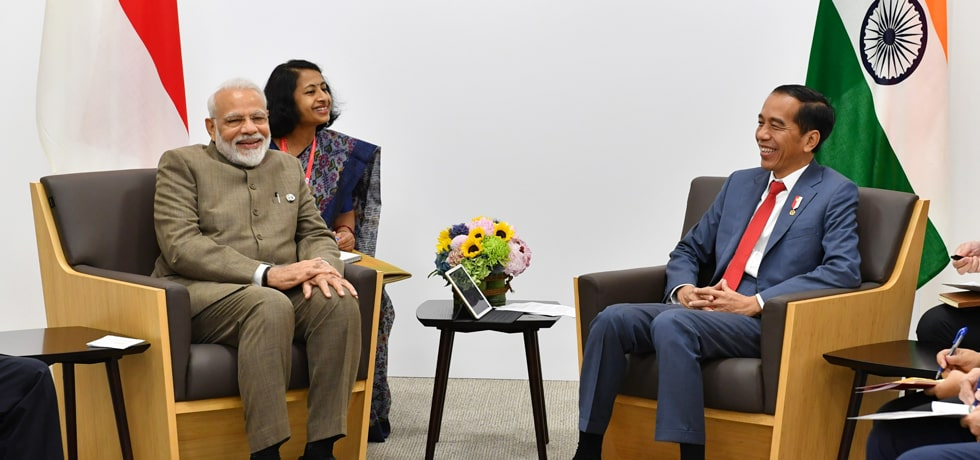 Prime Minister meets Joko Widodo, President of Indonesia on the sidelines of G20 Summit 2019 in Osaka, Japan