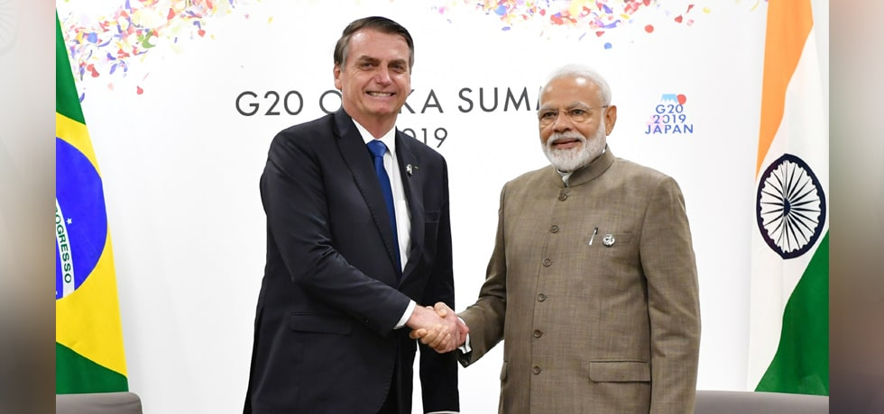 Prime Minister meets Jair Bolsonaro, President of Brazil on the sidelines of G20 Summit 2019 in Osaka, Japan