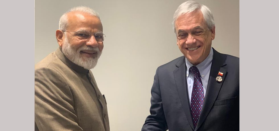 Prime Minister meets Sebastian Piñera, President of Chile on the margins of G20 Summit 2019 in Osaka, Japan