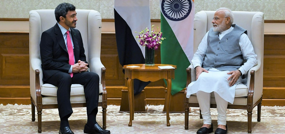 Sheikh Abdullah Bin Zayed Al Nahyan, Minister of Foreign Affairs and International Cooperation of UAE calls on Prime Minister in New Delhi