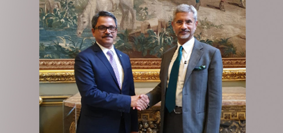External Affairs Minister meets Md. Shahriar Alam, Minister of State for Foreign Affairs of Bangladesh in London